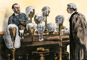 Wigs for English lawyers, 1800s