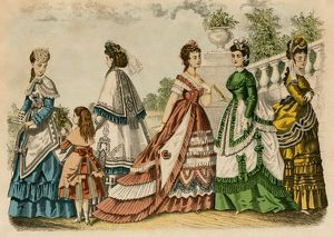 Women's dress fashions, 1861