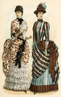 Women's dress fashions, 1880s