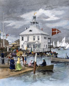 Yacht club in Newport, Rhode Island, 1880s