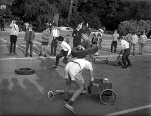 Building prams for racing in Chichester, 1960s