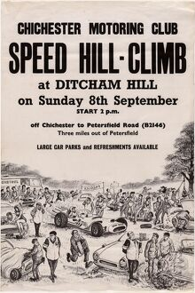 Chichester Motoring Club Speed Hill Climb at Ditcham Hill Poster