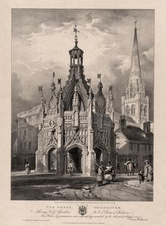 Lithograph of The Cross, Chichester, 1834