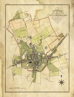 Map Of Chichester, 1812