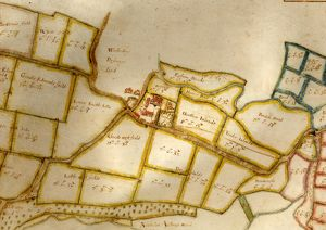 Map of the manor of Woolbeding, 1652