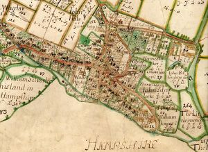 Map of Westbourne village, 1640