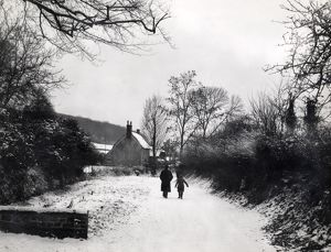Snow picture at West Burton, Bury, January 1940