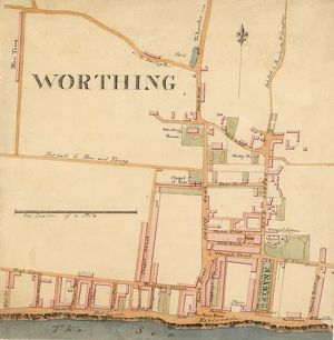 Street Plan of Worthing c1830