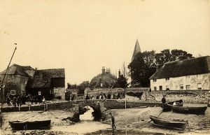 A view of Bosham Harbour and its buildings, 18 May 1891