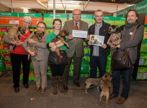 crufts 2015/photo presntation cheques border terrier welfare