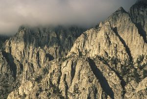 Granite Cliffs with clearing Storm Clouds, E. Slope of Wheeler Crest, E. Sierra, CA