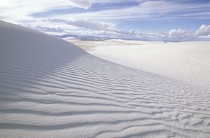 Gypsum sand patterns, Transverse-Barchan Dunes White Sands National Monument, New Mexico