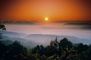Sunrise from Foothills Parkway, Great Smokey Mountains NP