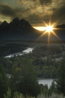 Sunset at Snake River Overlook, Grand Teton National Park, Wyoming