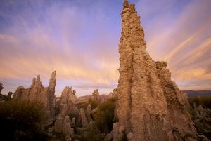 Tufa Towers at Sunrise, Calcium Carbonate Formed by Springs in Alkaline Lake