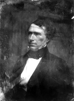 14th President of the United States. Daguerreotype, c1853, by Mathew Brady.