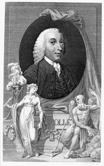 (1721-1771). Scottish surgeon and novelist. Copper engraving, English, c1790.