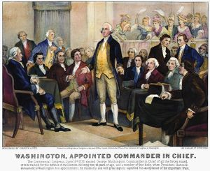 (1732-1799) accepting the election to Commander in Chief in the Continental Congress
