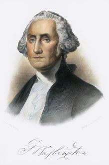 (1732-1799). First President of the United States. Steel engraving, American, 19th century