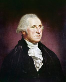 (1732-1799). First President of the United States. Oil painting by Charles Willson Peale