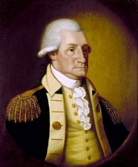 (1732-1799). First President of the United States. Painting by Edward Savage, 1790.