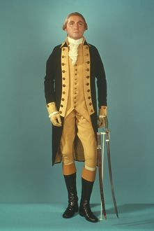 (1732-1799). Uniform worn by George Washington when he resigned his commission in 1783.