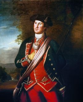 (1732-1799). Washington as a colonel in the Virginia militia. Oil on canvas, 1772