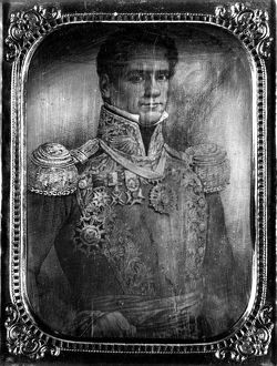 (1794-1876). Mexican soldier and political leader. Daguerreotype by F.W. Seiders