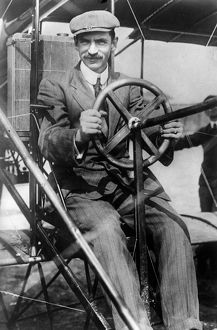 (1878-1930). American inventor and aviator. Photograph, c1910.
