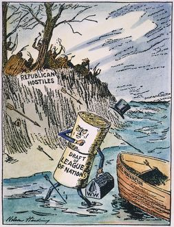 1919: contemporary cartoon by Nelson Harding depicting President Wilson's cherished