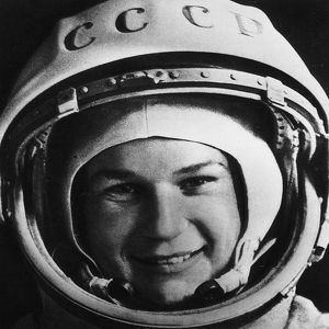 (1937-). Soviet cosmonaut and first woman to visit outer space. Photograph, 1960s.
