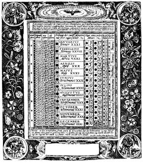 A 37 year calendar published by J. Bussemecher at Cologne.