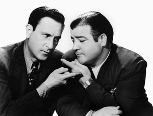 ABBOTT AND COSTELLO, 1942. Bud Abbott (left) and Lou Costello in the film 'Rio Rita