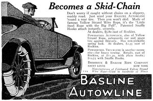 AD: BASLINE AUTOWLINE. American advertisement for Baseline Autowline, 1919