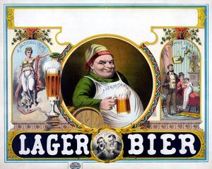 AD: BEER, c1879. Advertisement for lager beer. Lithograph, c1879
