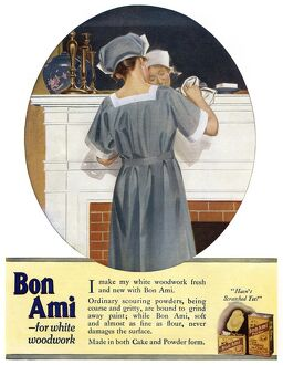 AD: BON AMI, 1919. American advertisement for Bon Ami household cleaner, 1919