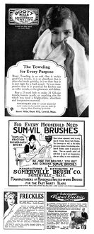 AD: BOOTT TOWELING, 1922. American advertisement for Boott Mills Absorbent Toweling