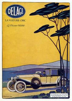 AD: DELAGE, 1920. French advertisement for Delage automobiles, 1920