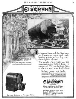 AD: EISEMANN MAGNETO, 1919. American advertisement for a magneto manufactured by