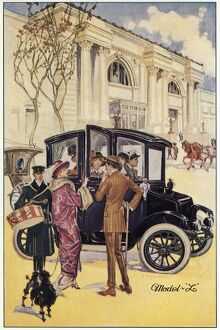 AD: ELECTRIC CAR, c1914. American advertisement for the Ohio Electric Car Company