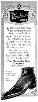 AD: FLORSHEIM SHOES, 1919. American advertisement for Florsheim Shoes, 1919