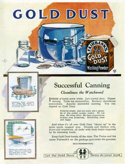 AD: GOLD DUST, 1922. American advertisement for Faribank's Gold Dust Washing Powder
