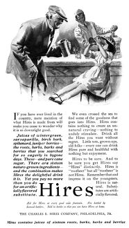 AD: HIRES, 1919. American advertisement for Hires Root Beer, 1919
