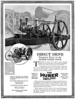 AD: HUBER LIGHT FOUR. American advertisement for The Huber Light Four, a product