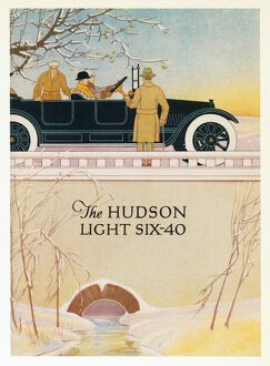 AD: HUDSON, c1914. American advertisement for Hudson Light Six-40 automobiles, c1914