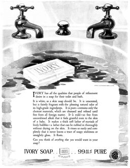 AD: IVORY SOAP, 1919. American advertisement for Ivory Soap, 1919