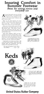 AD: KEDS, 1920. American advertisement for Keds shoe company