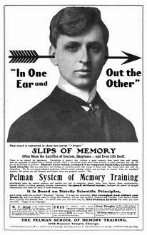 AD: PELMANISM, 1904. American advertisement for Pelmanism, a mind training program