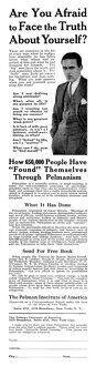 AD: PELMANISM, 1925. American advertisement for Pelmanism, a mind training program