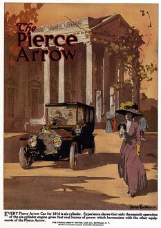 AD: PIERCE-ARROW, 1909. American advertisement for Pierce-Arrow automobiles